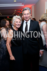 Jane Harman, Canadian Amb. Gary Doer. Photo by Tony Powell. WHCD Pre-parties. Hilton Hotel. May 3, 2014
