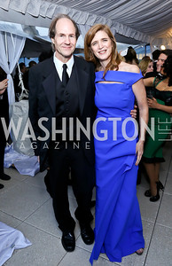 Cass Sunstein and Samantha Power. Photo by Tony Powell. WHCD Pre-parties. Hilton Hotel. May 3, 2014