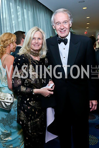 Susan Blumenthal and Sen. Ed Markey. Photo by Tony Powell. WHCD Pre-parties. Hilton Hotel. May 3, 2014