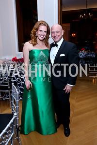 Miranda Gregory, Andrew Vesey. Photo by Tony Powell. 2014 White-Meyer Dinner. October 17, 2014