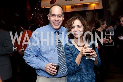 Ben Feldman, Maria Paipa. Photo by Tony Powell. 2014 Woodley House Benefit. Spices. December 17, 2014