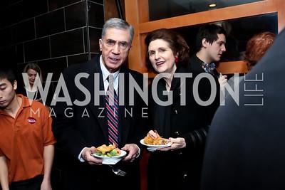 Chuck Robb and Lynda Bird Johnson Robb. Photo by Tony Powell. 2014 Woodley House Benefit. Spices. December 17, 2014