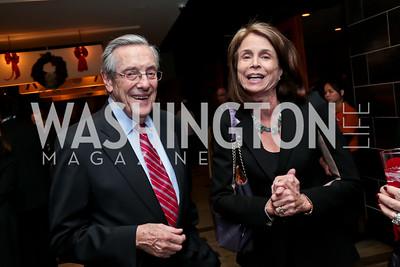 Bill Brock, Isabel Jasinowski. Photo by Tony Powell. 2014 Woodley House Benefit. Spices. December 17, 2014