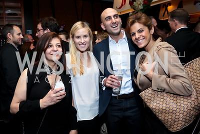 Manijeh Taghavi, Julie Vavrichek, Aram Taghavi, Amanda Makki. Photo by Tony Powell. 2014 Woodley House Benefit. Spices. December 17, 2014
