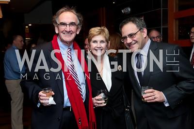 Vince Keane, Linda Meixner, Daniel Ezrow. Photo by Tony Powell. 2014 Woodley House Benefit. Spices. December 17, 2014