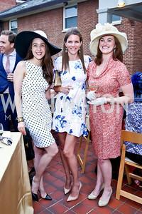 Kelly Holleman, Ashley Gula, Jennifer Paquette Galloway. Photo by Tony Powell. Woodrow Wilson Garden Party. May 14, 2014