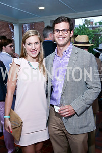 Andrea Saturno-Sanjara, Alex Beehler. Photo by Tony Powell. Woodrow Wilson Garden Party. May 14, 2014