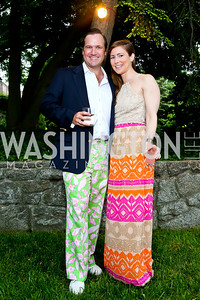 Chris and Megan Coleman. Photo by Tony Powell. Woodrow Wilson Garden Party. May 14, 2014