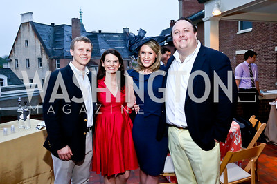 Reed and Julie Landry, Brooke Henderson, Fritz Brogan. Photo by Tony Powell. Woodrow Wilson Garden Party. May 14, 2014