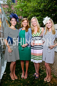 Lauren O'Neil, Amy Debone, Meredith McPhillips, Emily Berce. Photo by Tony Powell. Woodrow Wilson Garden Party. May 14, 2014