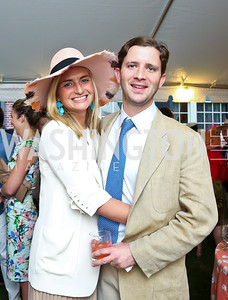 Katherine Pingree and Andrew Dick. Photo by Tony Powell. Woodrow Wilson Garden Party. May 14, 2014