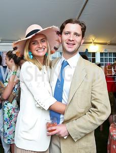 Katherine Pingree and Andrew Dick. Photo by Tony Powell. Woodrow Wilson Garden Party. May 14, 2014