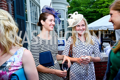 Lauren O'Neil, Emily Berce. Photo by Tony Powell. Woodrow Wilson Garden Party. May 14, 2014