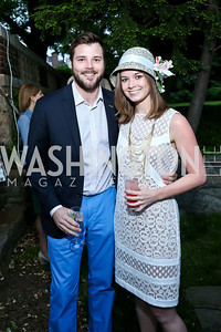 Lucien Ziegler, Sophie Pyle. Photo by Tony Powell. Woodrow Wilson Garden Party. May 14, 2014