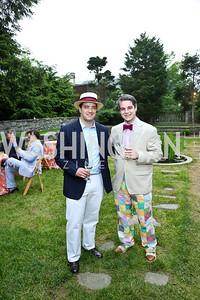 Bill Hatfield, Ryan Strasser. Photo by Tony Powell. Woodrow Wilson Garden Party. May 14, 2014