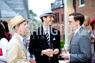 Garrett Peck, Graham Green, Brian Cahill. Photo by Tony Powell. Woodrow Wilson Garden Party. May 14, 2014