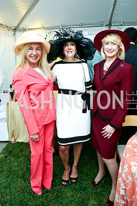 Monika Petter, Liz Sara, Dr. Joyce Hagel Silverman. Photo by Tony Powell. Woodrow Wilson Garden Party. May 14, 2014