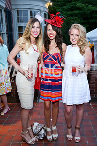 Adrienne Suhail, Cori Sue Morris, Claire Turck. Photo by Tony Powell. Woodrow Wilson Garden Party. May 14, 2014