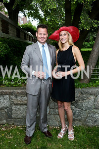 Tim Cooney, Michelle Johnson. Photo by Tony Powell. Woodrow Wilson Garden Party. May 14, 2014