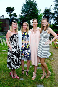 Lauren Bennitt, Diana Minshall, Charlotte Grassi Aukamp, Brittany Prime. Photo by Tony Powell. Woodrow Wilson Garden Party. May 14, 2014