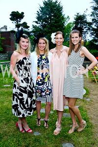 Lauren Bennitt, Diana Minshall, Charlotte Grassi Aukamp, Brittany Prime. Photo by Tony Powell. Woodrow Wilson Garden Party. May 14, 2014