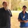 Reedy Creek CFA brigade leader Eric Smith with Club president Don Nicoll