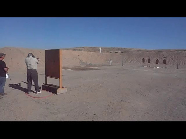 Ron Tamminga shooting a Mac 11/9 on Stage 1