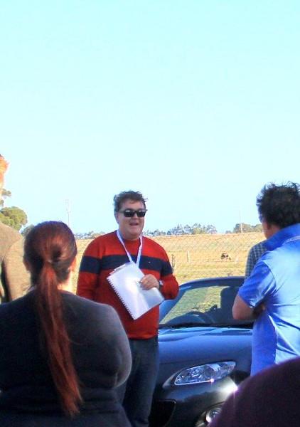 Run organiser/leader Chris Biffin gives his pre-run briefing.