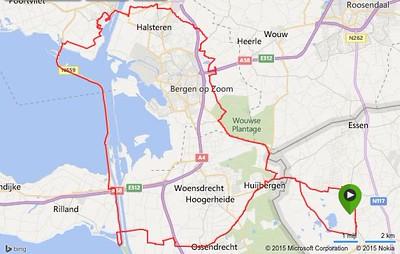 Racefiets toer - Oesterdam 15-04-2015