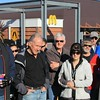 Dave Collins, Geoff Cooney, Rob & Ros Eastwood, Will Campbell, John Hayhurst and Coral Campbell at the drivers' briefing at McDonald's, Berwick