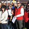 Rob & Ros Eastwood, Will & Coral Campbell, Grant Butler and Saeko Fujiki at the drivers' briefing at McDonald's, Berwick