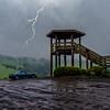 Wet, wet, wet! Strzelecki Road lookout ...