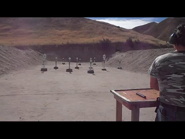 Video Ken Hampson shooting his Uzi with iron sights on Stage 1