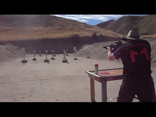Video Alton Stafford with a Mac 11/9 on Stages 1, 2 & 3
