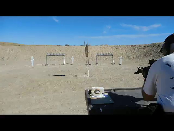 Alan Jacobus shooting his HK MP5 on Stages 1, 2, 3 & 4