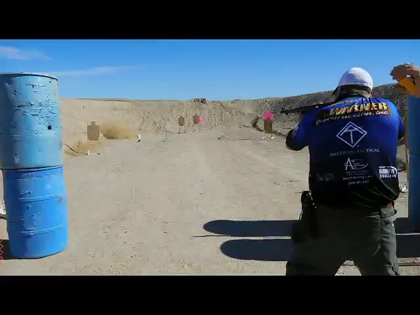 Jeb Hardy shooting a MP40 on Stage 2 and Stage 4
