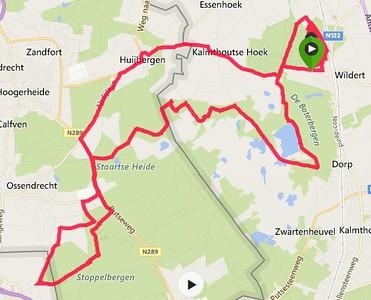 MTB ritje Huijbergen - Kalmthoutse Heide - Wildertse Duintjes 17/02/2017