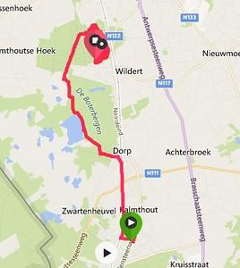 MTB ritje Kalmthout - Wildert 04-03-2017