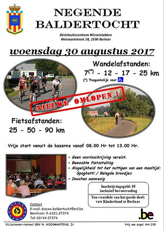 Racefiets toer Baldertocht 30-08-2017