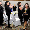 Don Knight | The Herald Bulletin<br /> Nancy Anderson recieves a standing ovation after accepting the 2018 Athena award during a dinner at the Anderson Country Club on Thursday.