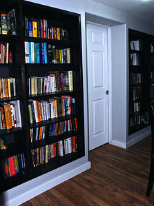 Some of built in Library shelves