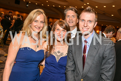 Lisa Lafontane, Johanna Elsemore, Matt Kayhoe, Courtney Tat, 27th Annual Bark Ball, 2014.  Photo by Ben Droz., 2014.  Photo by Ben Droz. Jonathan Taylor, hosted by the Washington Humane Society, Jonathan Taylor, June 14, Saturday, Washington Hilton