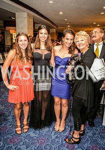 Andrea Muffoletto, Isabella Cortese, Giuliana Cortese, Diane Roadcap, 27th Annual Bark Ball, hosted by the Washington Humane Society, Washington Hilton, Saturday, June 14, 2014.  Photo by Ben Droz.