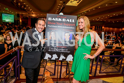 Howard Bernstein, Dr. Katy Nelson, 27th Annual Bark Ball, hosted by the Washington Humane Society, Washington Hilton, Saturday, June 14, 2014.  Photo by Ben Droz.