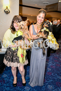 Erika Searl (with Ginger), Stacy McCosky (with Sadie), 27th Annual Bark Ball, hosted by the Washington Humane Society, Washington Hilton, Saturday, June 14, 2014.  Photo by Ben Droz.