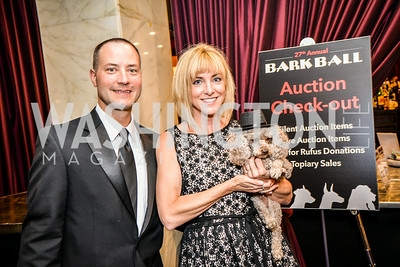 David Wheary, Dr. Leanne Kalinsky, 27th Annual Bark Ball, 2014.  Photo by Ben Droz., 2014.  Photo by Ben Droz. Jonathan Taylor, hosted by the Washington Humane Society, June 14, Saturday, Washington Hilton