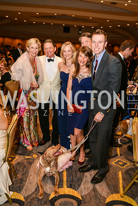 Sally Akridge, Chip Akridge, Lisa Lafontane, Johanna Elsemore, Matt Kayhoe, Courtney Tat, 27th Annual Bark Ball, 2014.  Photo by Ben Droz., 2014.  Photo by Ben Droz. Jonathan Taylor, hosted by the Washington Humane Society, Jonathan Taylor, June 14, Saturday, Washington Hilton