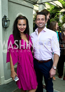 Pari Bradlee, Dr. Max Oshalim. Photo by Tony Powell. 2nd Annual Marina Orth Foundation Benefit. Orth Residence. May 18, 2014