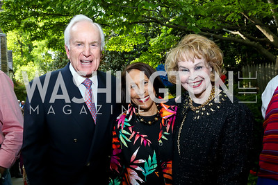 Lloyd Hand, Gail West, Ann Hand. Photo by Tony Powell. 2nd Annual Marina Orth Foundation Benefit. Orth Residence. May 18, 2014