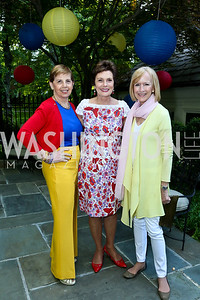 Adrienne Arsht, Maureen Orth, Judy Woodruff. Photo by Tony Powell. 2nd Annual Marina Orth Foundation Benefit. Orth Residence. May 18, 2014